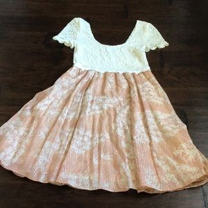 Free People Lace Top Dress